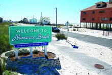 One Of The Two New Navarre Beach Signs Due To Amazing Pority Old Among Local Community Led First