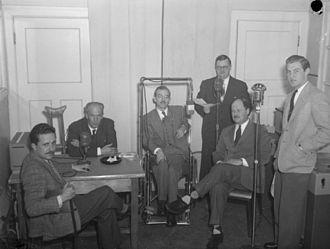 CJAD - The CJAD studios in 1948
