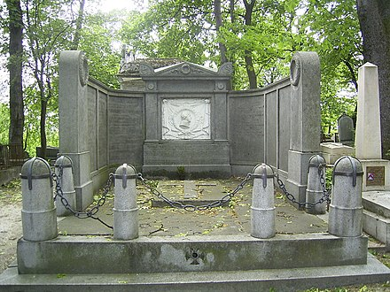 Marshal Ney's gravesite in Pere Lachaise Cemetery Ney grave.JPG