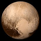 Pluto seen by New Horizons on 14 July 2015