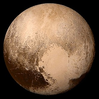 Dwarf planet - Image: Nh pluto in true color 2x JPEG edit frame
