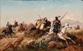 Niels Simonsen - Nordafrikansk scene med arabiske ryttere - 1880.png