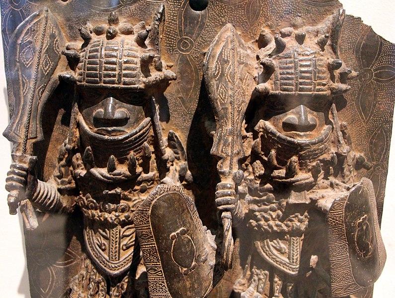 File:Nigeria, regno del benin, placca con guerrieri, xvi-xvii sec. 02.JPG