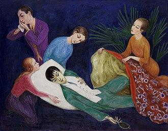 The Dying Dandy - Image: Nils Dardel Döende dandyn