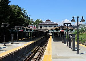 Ninth Avenue station from Manhattan-bound platform, September 2018.JPG