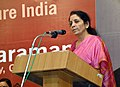 Nirmala Sitharaman addressing at the inauguration of the 'Commerce Policy for Future India', organised by the Mangaluru Initiative for Nationalist Dialogue, at Mangaluru, in Karnataka on January 03, 2015.jpg