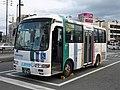 Nishitetsu Bus Futsukaichi 8007 at Nishitetsu Futsukaichi Station.jpg