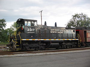 North Shore Railroad (Pennsylvania) - Engine 2317 at the North Shore Railroad corporate headquarters in Northumberland, Pennsylvania