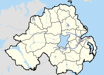 Location map Northern Ireland