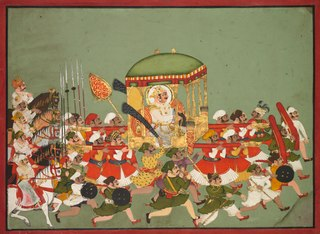 Maharao Chattar Sal (reigned 1758–64) of Kota in a Palanquin
