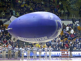 Northwestern Wildcats - Wildcats blimpcam at Welsh-Ryan Arena (2012-02-21)