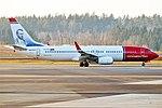 Norwegian (Aleksis Kivi livery), EI-FVY, Boeing 737-8JP (40664274063).jpg