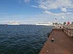 Norwegian Breakaway departing Brilliance of the Seas at Pier 26 in Port of Tallinn 7 July 2018.jpg