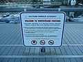 Notice on Whitestrand Pontoon, Salcombe - geograph.org.uk - 1077340.jpg