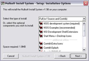 Nullsoft Scriptable Install System - NSIS 1.98