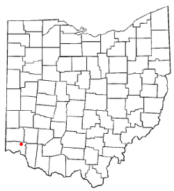 Location of Evendale, Ohio