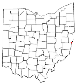 Location of Tiltonsville, Ohio