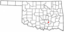 Location of Tupelo, Oklahoma