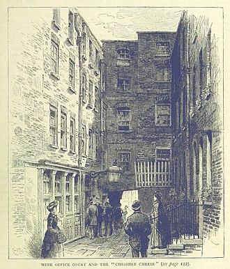 Ye Olde Cheshire Cheese - Ye Olde Cheshire Cheese in 1873