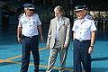 O chefe do Estado-Maior da Aeronáutica, tenente-brigadeiro Aprígio Eduardo de Moura Azevedo (E), o ministro da Defesa, Celso Amorim (C) e o comandante da Aeronáutica, tenente-brigadeiro-do-ar Juniti Saito (D) (7603060674).jpg