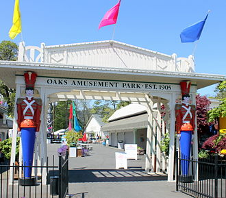 Oaks Amusement Park - Image: Oaks Amusement Park entrance Portland Oregon