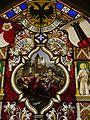 Oberhofen Schloss Oberhofen Innen Raum mit Glasmalereien 11.JPG