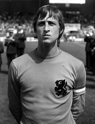 Johan Cruyff - Cruyff as captain of the Netherlands prior to a game at the 1974 World Cup