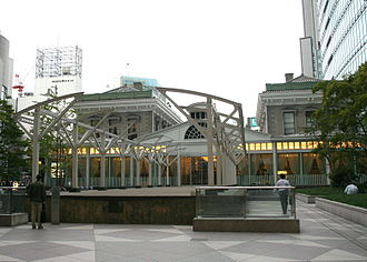 Shiodome - Restored platform of the original Shimbashi Station