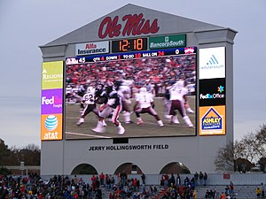 Vaught–Hemingway Stadium - The new display cost $6 million
