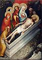Oltář třeboňský, Kladení Krista do hrobu, Národní galerie v Praze.jpg