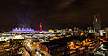 Olympic stadium and The Orbit during London Olympics opening ceremony (2012-07-27).jpg