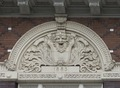 One of three architectural elements above the Paramount Theatre in downtown Austin, Texas LCCN2014632643.tif