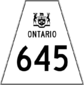 Highway 645 shield
