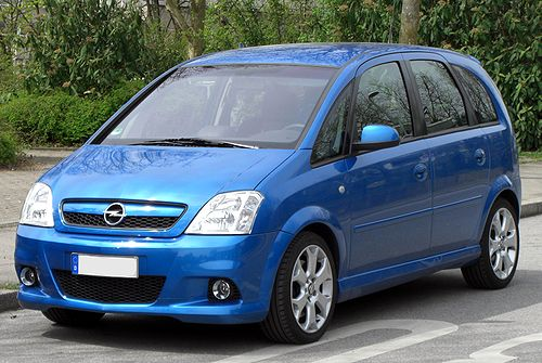 Blue Cars Opel Meriva