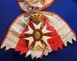 Order of Saint Joseph grand cross badge sash (Tuscany) - Tallinn Museum of Orders.jpg