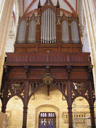 Gott ist mein König, BWV 71 - The organ in the Marienkirche, Mühlhausen