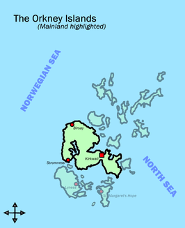 Orkney Islands map mainland highligted.png