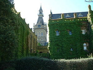 The First Stone - The ivy-covered exterior of Ormond College.