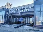 Osijek Airport-Zračna luka Osijek-Аеродром Осијек-Eszék repülőtér 01.jpg