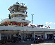 Front of Osmani International Airport terminal