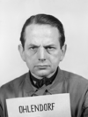 Otto Ohlendorf at the Nuremberg Trials