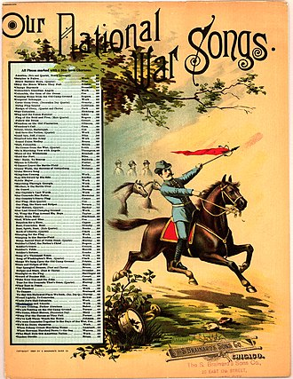 Henry Clay Work - 'Bring the good old bugle, boys, we'll sing another song', Civil War songs by Henry Clay Work published 1885