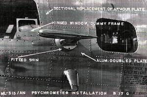 1st Weather Reconnaissance Squadron - 1st WRS RB-17G Weather Instruments