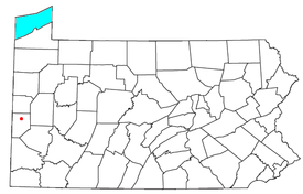 Location of College Hill in Pennsylvania