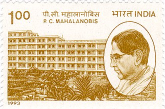 Prasanta Chandra Mahalanobis - Mahalanobis on a 1993 stamp of India