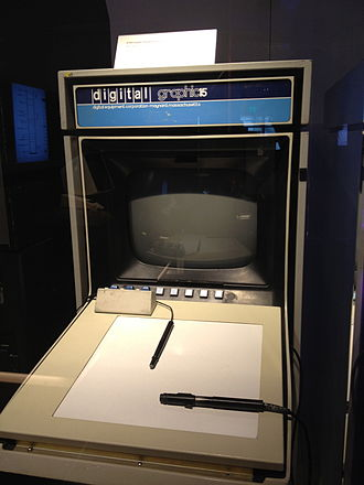 PDP-15 - PDP-15 graphics terminal with light pen and digitizing tablet