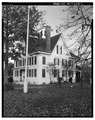 PERSPECTIVE VIEW OF SOUTH SIDE LOOKING NORTH - Daniel Doughty House, 46 Shore Road, Absecon, Atlantic County, NJ HABS NJ,1-ABSEC,3-1.tif