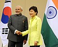 PM Modi and South Korean President Park Geun-hye at Nay Pyi Taw, Myanmar.jpg