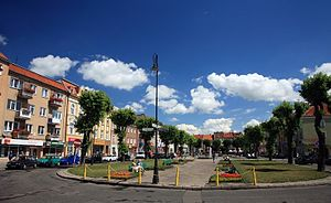Bartoszyce - Shopping road and public place in the city
