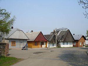 Jaśliska - Old houses in Jaśliska